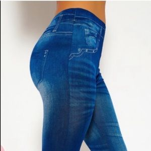 Pants - Jean Print Leggins